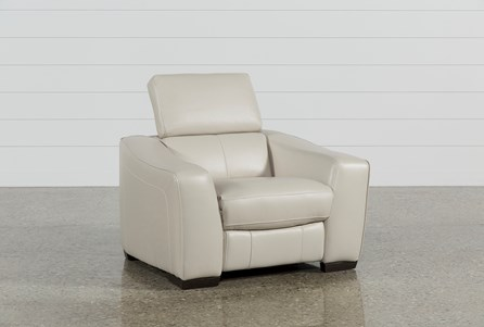 Kristen Silver Grey Power Recliner W/USB