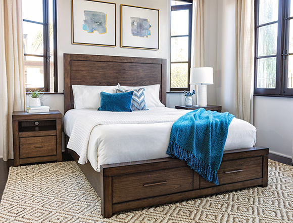 coastal bedroom with Riley bed