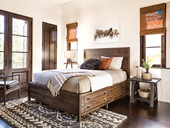 country/rustic bedroom with Rowan bed
