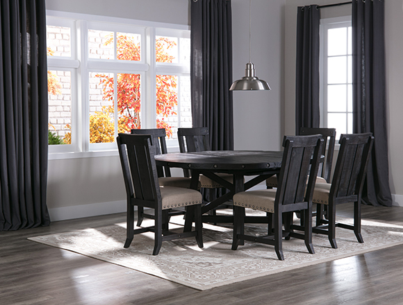 Country/Rustic dining room with grady dining set