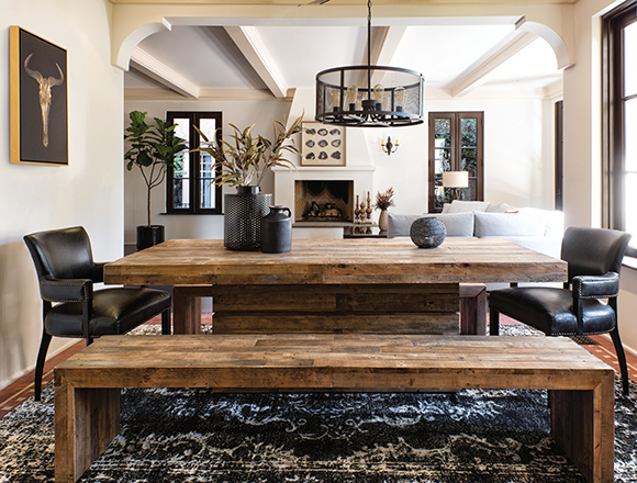 Country/Rustic dining room with Tahoe dining set