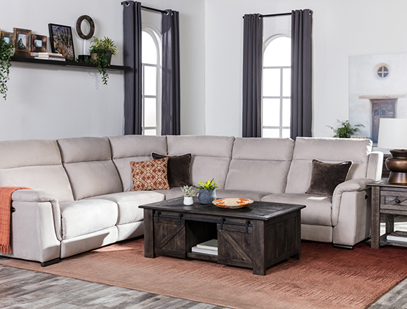 Country/rustic Living room with Kerwin sofa