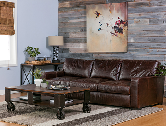 Industrial Living room with Gordon Sofa