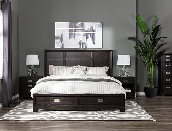 Modern bedroom with Flynn bed