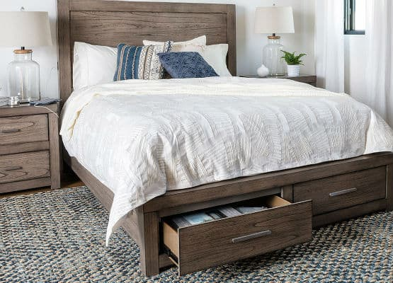 storage bed drawers example