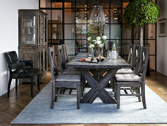 country-rustic Dining Room with Mallard Extension Dining Table