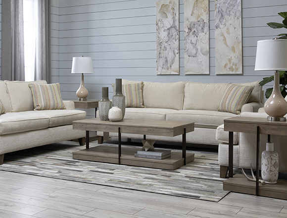 modern Living Room with Emerson II Sofa