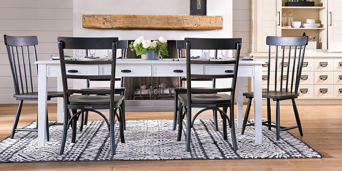 Country/Rustic Dining Room with Magnolia Home Keeping Table