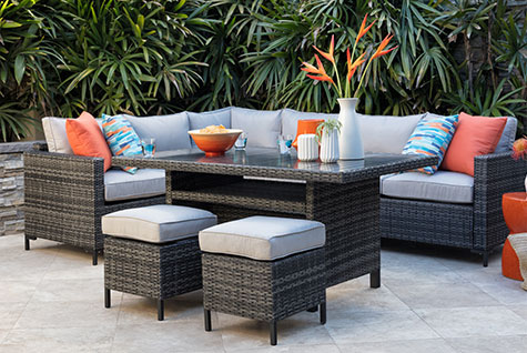 domingo banquette ottomans