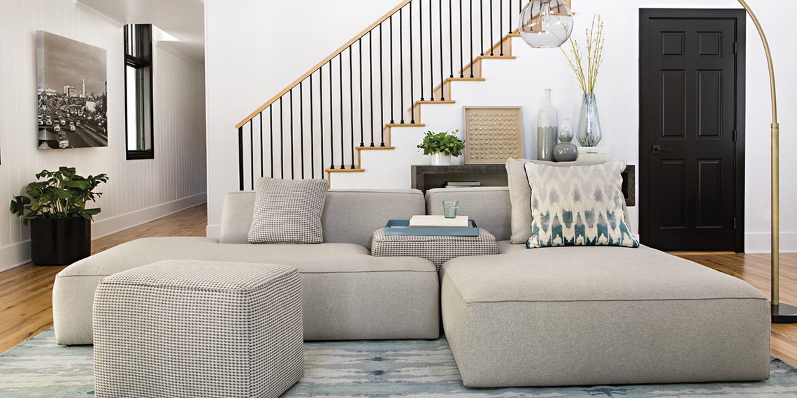Modern Living Room with Meggie Sofa