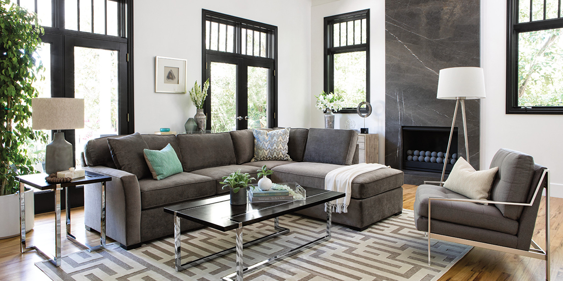 Transitional Living Room with Aspen Sofa