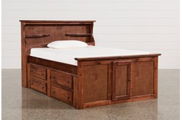 Sedona Full Bookcase Bed With Single 4- Drawer Captains Unit