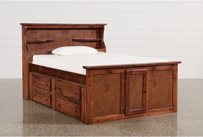 Sedona Full Bookcase Bed With Single 4- Drawer Captains Unit - 360