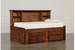 Sedona Twin Bookcase Daybed Bed With 4- Drawer Captains Unit