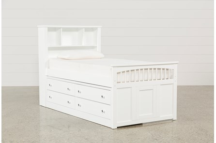 Bayfront Twin Captains Bed With Single 4-Drawer Unit