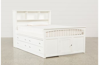 Bayfront Full Captains Bed With Single 4-Drawer Unit