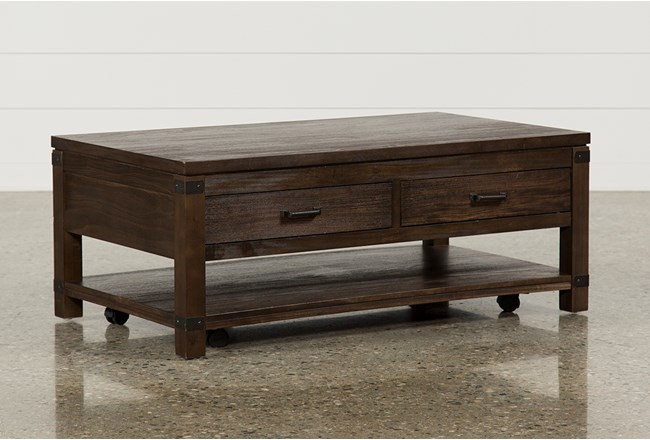 Livingston Cocktail Table W/Drawers - 360