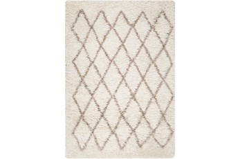 60X96 Rug-Faith Shag Ivory