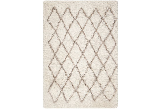 96X120 Rug-Faith Shag Ivory - 360