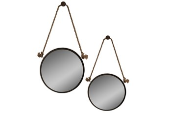 Mirror-2 Piece Stuart Jute & Metal 24X24