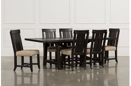 Jaxon 7 Piece Rectangle Dining Set With Wood Chairs