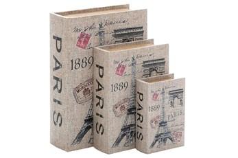 3 Piece Set Canvas Book Box