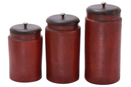 3 Piece Set Terracotta Jars