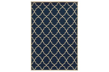 94X130 Outdoor Rug-Montauk Navy