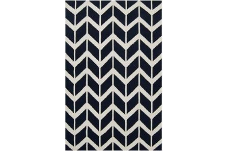 96X132 Rug-Azibo Blue Chevron