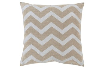 Accent Pillow-Cameron Chevron Silver Metallic 20X20