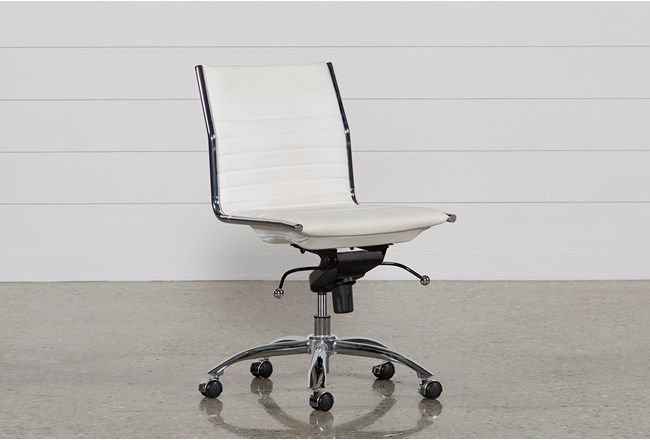 Fraser White Office Chair - 360