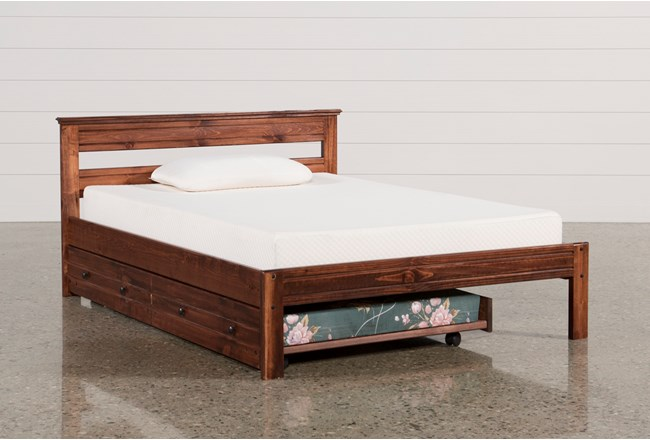 Sedona Full Platform Bed With Trundle With Mattress - 360