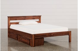 Sedona Full Platform Bed With Single 2- Drawer Storage Unit