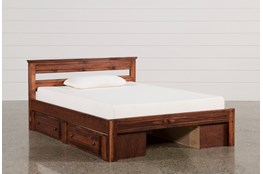 Sedona Full Platform Bed With Double 2- Drawer Storage Unit