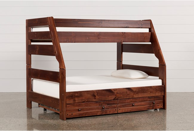Sedona Twin Over Full Bunk Bed With Trundle With Mattress - 360