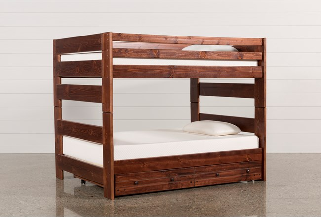 Sedona Full Over Full Bunk Bed With Trundle With Mattress - 360