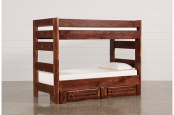 Sedona Twin Over Twin Bunk Bed With 2- Drawer Storage Unit
