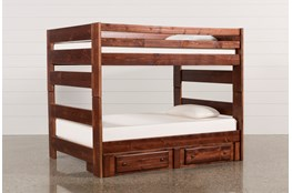 Sedona Full Over Full Bunk Bed With 2- Drawer Storage Unit