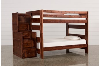 Sedona Full Over Full Bunk Bed With Stair Chest