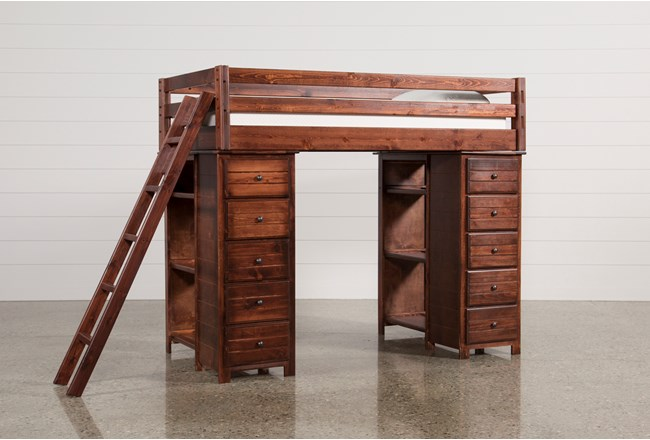 Sedona Loft Bed With 2 Chests - 360