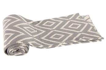 Accent Throw-Grey Diamond Knit