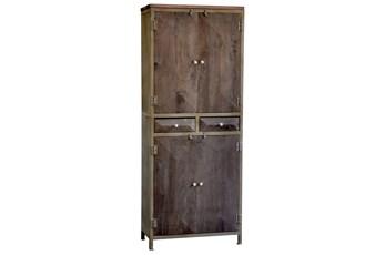 Espresso Finish 4-Door 2-Drawer Cabinet