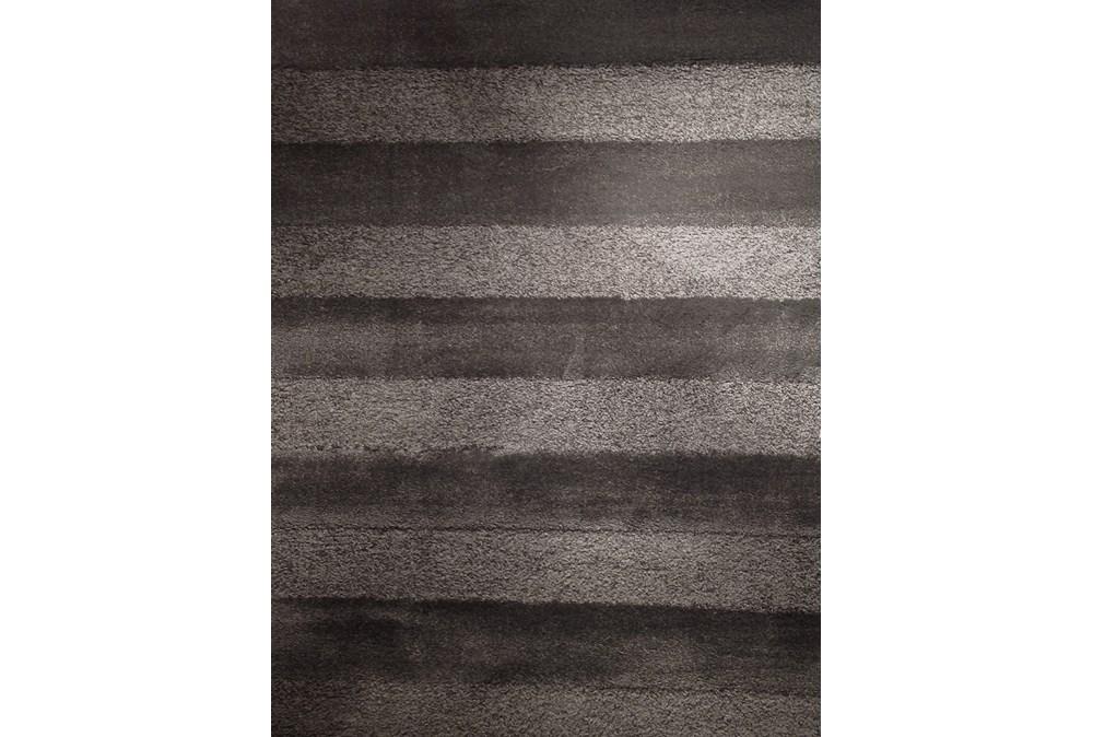 63X90 Rug-Charcoal Stripe Shag