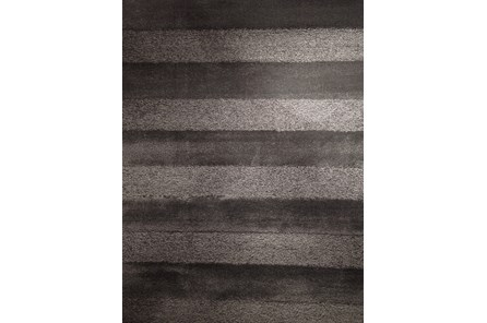 93X126 Rug-Charcoal Stripe Shag