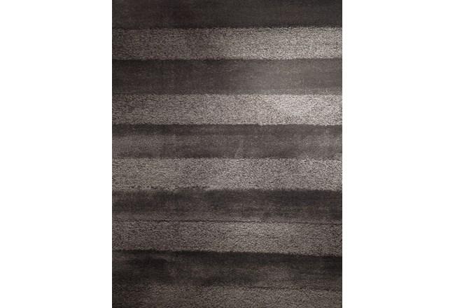 93X126 Rug-Charcoal Stripe Shag - 360