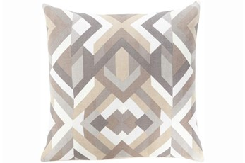 Accent Pillow-Seraphina Grey Woven Geo