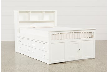 Bayfront Full Captains Bed With Double 4-Drawer Unit