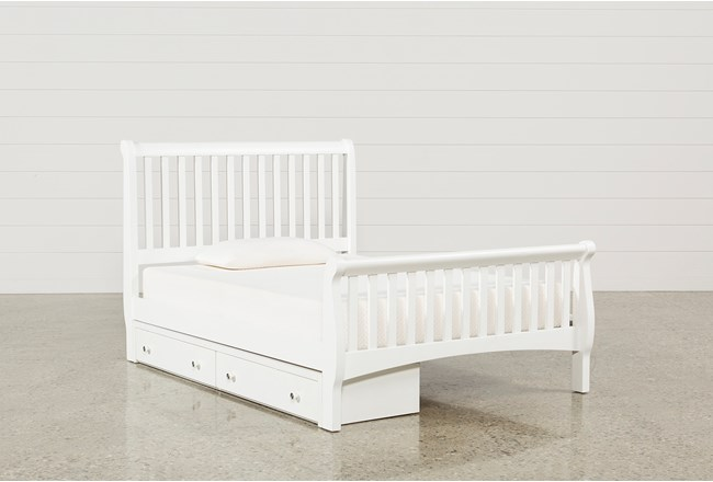 Bayfront Full Sleigh Bed With Single 2-Drawer Storage Unit - 360