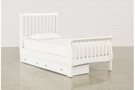 Bayfront Twin Sleigh Bed With Single 2-Drawer Storage Unit