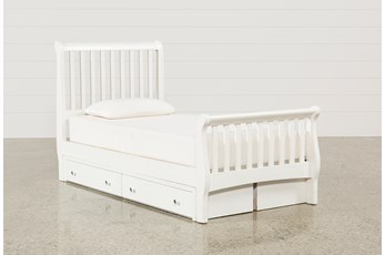 Bayfront Twin Sleigh Bed With Double 2-Drawer Storage Unit